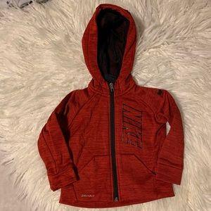 Nike red drifit 18M zip up hoodie